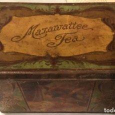Cajas y cajitas metálicas: ANTIGUA CAJA MODERNISTA LATA DE THE MAZAWATTEE TEA AÑO 1910 20 DOBLE TAPA 29 X 19 X 18 CM. Lote 160658758