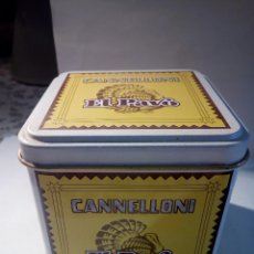 Cajas y cajitas metálicas: CAJA METÁLICA DE PUBLICIDAD EL PAVO. Lote 160696853