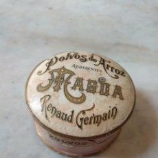 Cajas y cajitas metálicas: CAJA POLVOS DE ARROZ ADHERENTES MAGDA RENAUD GERMAIN - RARA -. Lote 161026180