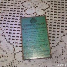 Cajas y cajitas metálicas: CAJA METÁLICA AGUA DEL PILAR. Lote 161280510