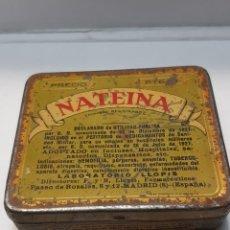 Cajas y cajitas metálicas: CAJA CHAPA NATEINA LABORATORIOS LLOPIS. Lote 161396470