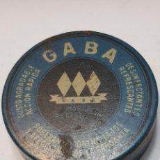 Cajas y cajitas metálicas: CAJA CHAPA ANTIGUA DE TABLETAS GABA. Lote 161396918