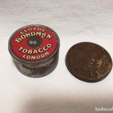 Cajas y cajitas metálicas: CAJA METALICA DE TABACO LLOYDS BONDMAN TOBACCO LONDON. Lote 162374622