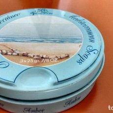 Cajas y cajitas metálicas: CAJA DE JABÓN MEDITERRANEAN SOAPS. Lote 162907906