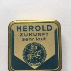 Cajas y cajitas metálicas: HEROLD CAJA METALICA GRAMOFONOS MADE IN GERMANY. Lote 162911192