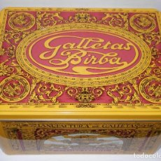 Cajas y cajitas metálicas: LATA GALLETAS BIRBA . Lote 163485642