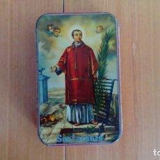 Cajas y cajitas metálicas: LATA NATA DE MEMBRILLO SAN LORENZO, LORENZO ESTEPA AGUILAR, PUENTE GENIL. Lote 163502550