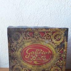 Cajas y cajitas metálicas: LATA GALLETAS BIRBA CAMPODRON GIRONA. Lote 163588546