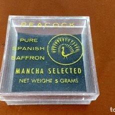 Cajas y cajitas metálicas: CAJITA DE AZAFRÁN PEACOCK 5 GR. Lote 163646918