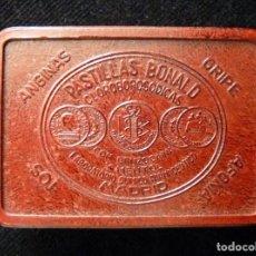 Cajas y cajitas metálicas: ANTIGUA CAJA DE PASTILLAS BONALD. BAQUELITA. AÑOS 20. PERFECTA. Lote 163649002
