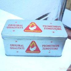 Cajas y cajitas metálicas: LATA PROMETHEUS. PIEDRAS PARA ENCENDEDORES. 1971. BUEN ESTADO. Lote 163753614