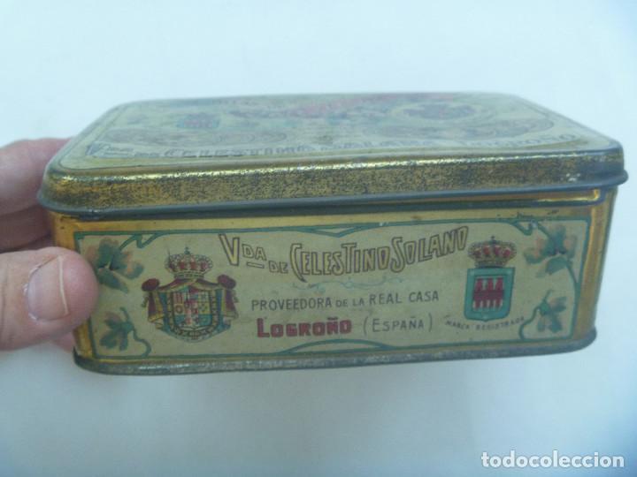 Cajas y cajitas metálicas: CAJA DE METAL DE PASTILLAS DE CAFE CON LECHE DE SOLANO, LOGROÑO. PRINCIPIOS DE SIGLO - Foto 2 - 164009754