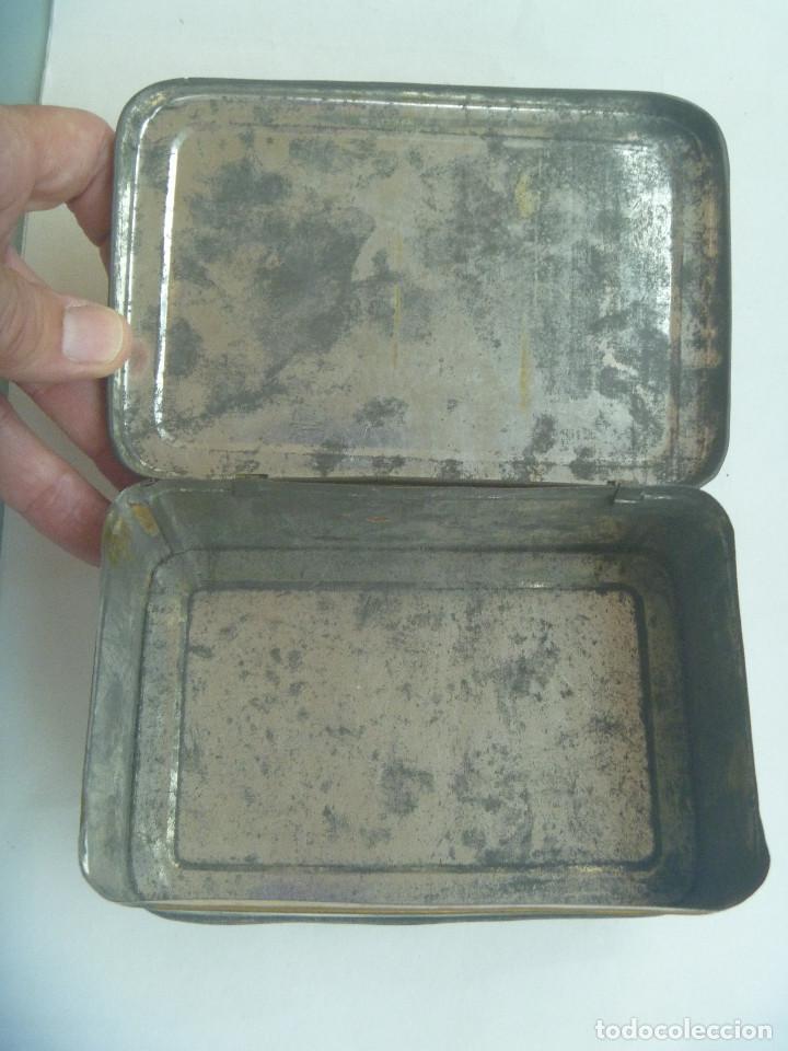 Cajas y cajitas metálicas: CAJA DE METAL DE PASTILLAS DE CAFE CON LECHE DE SOLANO, LOGROÑO. PRINCIPIOS DE SIGLO - Foto 5 - 164009754