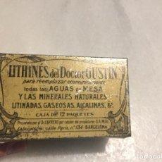 Cajas y cajitas metálicas: ANTIGUA CAJA HOJALATA LITOGRAFIADA LITHINES DEL DOCTOR GUSTIN BARCELONA AÑOS 30 . Lote 164615142