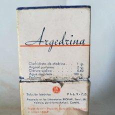 Cajas y cajitas metálicas: CAJITA ANTIGUA ARGEDRINA LABORATORIOS BIOFAR VALENCIA. Lote 165072182