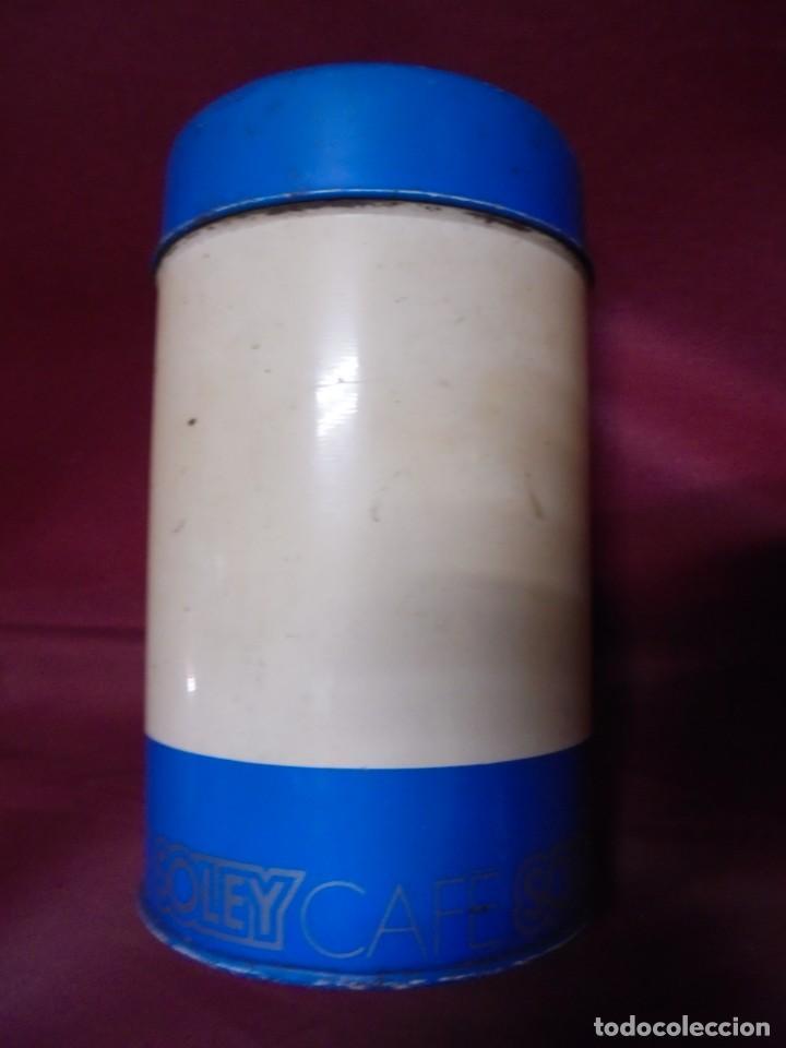 Cajas y cajitas metálicas: magnico antiguo bote de hojalata cafe soley - Foto 2 - 165266530