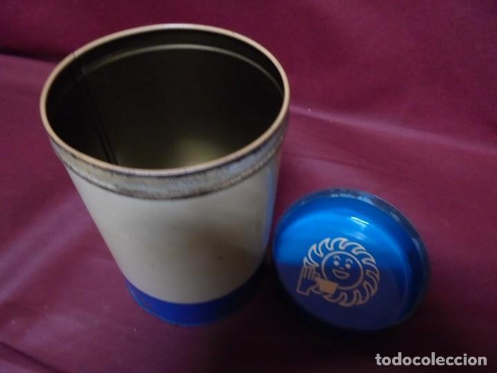 Cajas y cajitas metálicas: magnico antiguo bote de hojalata cafe soley - Foto 3 - 165266530