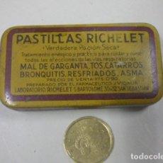 Cajas y cajitas metálicas: CAJITA DE PASTILLAS RICHELET. Lote 165349146