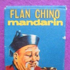 Cajas y cajitas metálicas: CAJA CARTON FLAN CHINO MANDARIN, 1/2 PUNTO, MIDE APROX. 4,5 X 6 CM. Lote 165490574