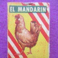 Cajas y cajitas metálicas: CAJA CARTON CALDO REAL EL MANDARIN, 1/2 PUNTO, MIDE APROX. 3,5 X 5,5 CM. Lote 165490694