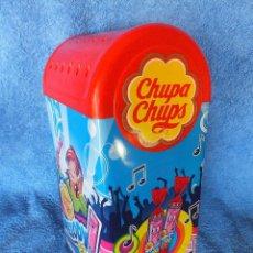 Cajas y cajitas metálicas: CHUPA CHUPS DISPENSADOR CAJA LATA EXPOSITOR DE CHUPACHUPS MELODY POPS. Lote 165681678