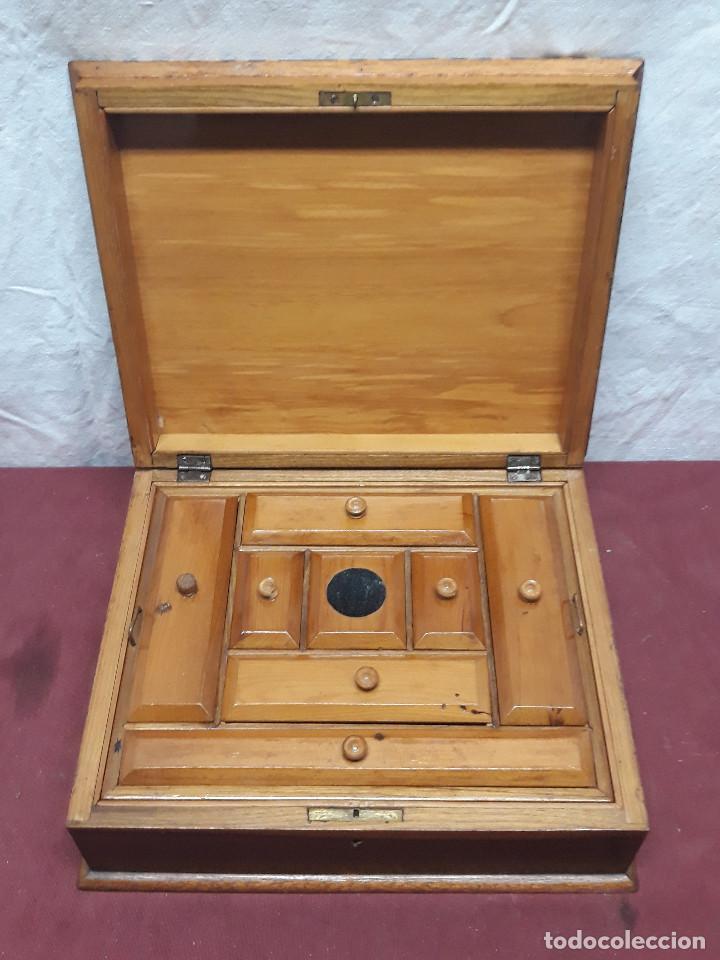CAJA COSTURERO... MARQUETERIA... CO XX (Coleccionismo - Cajas y Cajitas Metálicas)