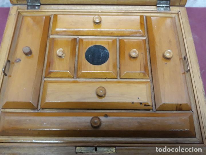 Cajas y cajitas metálicas: CAJA COSTURERO... MARQUETERIA... CO XX - Foto 2 - 165863618
