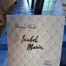 Cajas y cajitas metálicas: ANTIGUA CAJA POVERA . ISABEL MARIA, DE VERA. A ESTRENAR. Lote 166004734