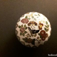 Cajas y cajitas metálicas: CLOISONNE, CAJITA REDONDA . Lote 166065902