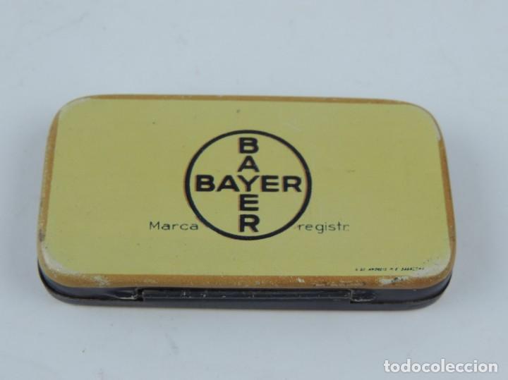 Cajas y cajitas metálicas: Caja litografiada de Panflavina. Para la desinfección de las cavidades bucal y faríngea. Bayer. Farm - Foto 2 - 166097370
