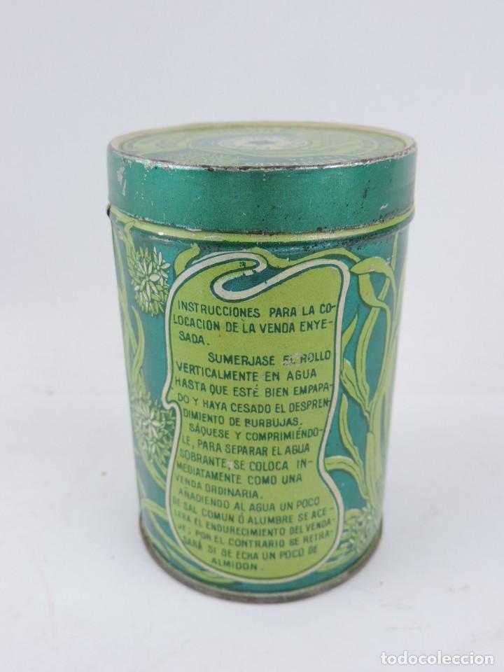 Cajas y cajitas metálicas: CAJA LITOGRAFIADA DEL DOCTOR CEA, VALLADOLID, FARMACIA, VENDA ENYESADA, MIDE 10 X 6,5 CMS. - Foto 3 - 166098426