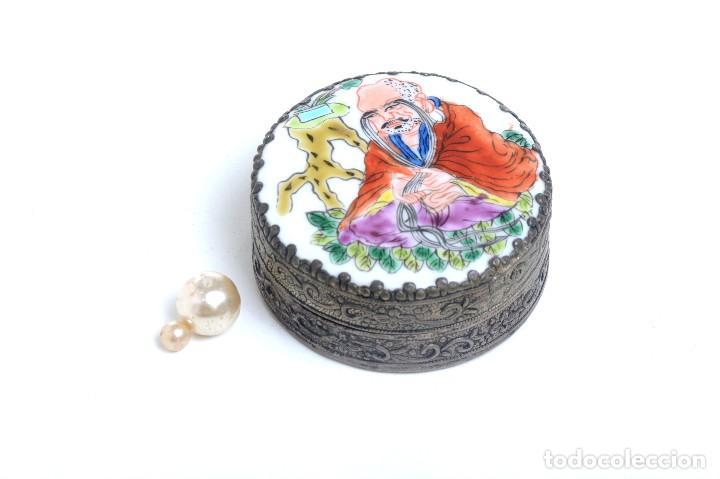 Cajas y cajitas metálicas: Caja decorativa, joyero, caja joyas, caja étnica,Caja vintage,caja porcelana,caja rapé, pastillero, - Foto 2 - 166374214
