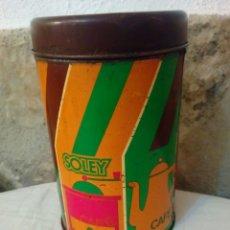 Cajas y cajitas metálicas: BOTE HOJALATA CAFE SOLEY. Lote 166650441