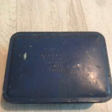 Cajas y cajitas metálicas: CAJA METÁLICA ANTIGUA. Lote 166874788