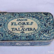 Cajas y cajitas metálicas: CAJA JABON FLORES DE TALAVERA, DE GAL, MADRID, AÑOS 20-30. Lote 167629352