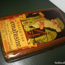Cajas y cajitas metálicas: CAJA DE HOJALATA: GALLETAS HEMATOSINE. Lote 167717593