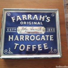 Cajas y cajitas metálicas: CAJA METAL FARRAH'S ORIGINAL HARROGATE TOFFEE. Lote 167820726