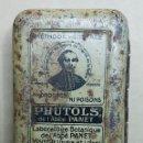 Cajas y cajitas metálicas: LATA MEDICAMENTO PHUTOLS. Lote 168121494