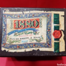 Cajas y cajitas metálicas: CAJA DE CARTON, 1880 PAN DE CADIZ, ESTADO IMPECABLE. Lote 168264997