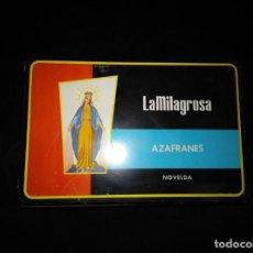 Cajas y cajitas metálicas: CAJA DE HOJALATA. AZAFRANES LA MILAGROSA. NOVELDA. ALICANTE. Lote 168493512
