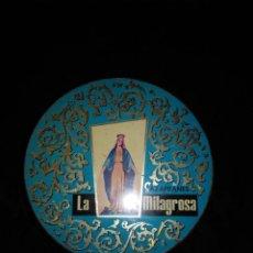 Cajas y cajitas metálicas: CAJA DE HOJALATA REDONDA. AZAFRANES LA MILAGROSA. NOVELDA. ALICANTE.. Lote 168493968