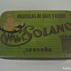 Cajas y cajitas metálicas - caja metálica serigrafiada Pastillas de cafe con leche Solano . Logroño - 168639084