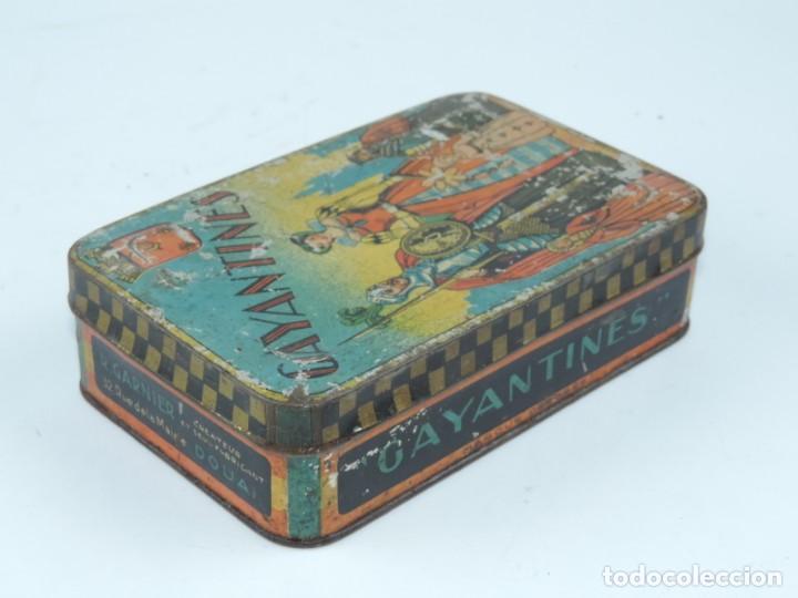Cajas y cajitas metálicas: CAJA DE HOJALATA LITOGRAFIADA CON PUBLICIDAD DE CONFISERIE AUX DELICES, GAYANTINES, MIDE 16 X 10 X 4 - Foto 3 - 168774044