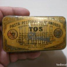 Cajas y cajitas metálicas: CAJA DE FARMACIA DEL DOCTOR ANDREU BARCELONA MIDE 5,3X10X2. Lote 170109132