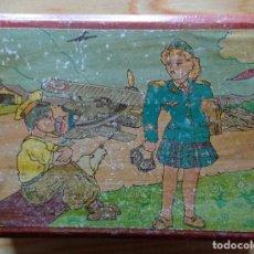 Cajas y cajitas metálicas: CAJA MADERA HUCHA AÑOS 30. Lote 170201556