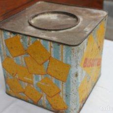 Cajas y cajitas metálicas: ANTIGUA CAJA BISCOTTES TOSTADAS, JAIME FIGUERAS GUAL, BARCELONA. Lote 170493588