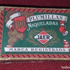 Cajas y cajitas metálicas: CAJA DE PLUMILLAS - JAER. Lote 170682105