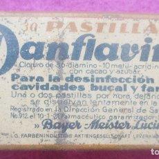 Cajas y cajitas metálicas: CAJA METALICA, PASTILLAS DE PANFLAVINA, BAYER. Lote 171033843
