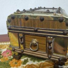 Cajas y cajitas metálicas: PEQUEÑO BAUL. Lote 171076589