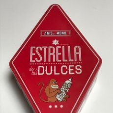 Cajas y cajitas metálicas: CAJA METALICA ANIS DEL MONO. Lote 171223035